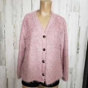 Pie In The Sky button Front Cardigan Waffl…